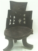 Ethiopian chair curved barrel back african wood chair carved chair