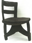Ethiopian small chair curved back african wood chair carved chair
